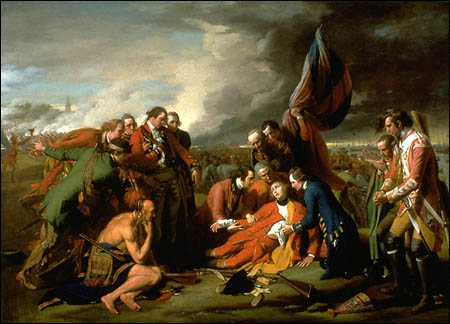 Death of General Wolfe by Benjamin West