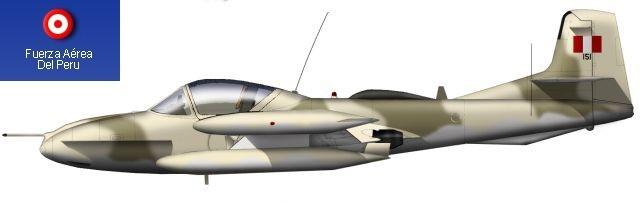 Avión Cazabombardero Ligero Subsónico de ataque Cessna Modelo 318E A-37B Dragonfly (Libélula) con su esquema táctico mimético en color arena y marrón terroso apto para camuflarse en zona desértica.