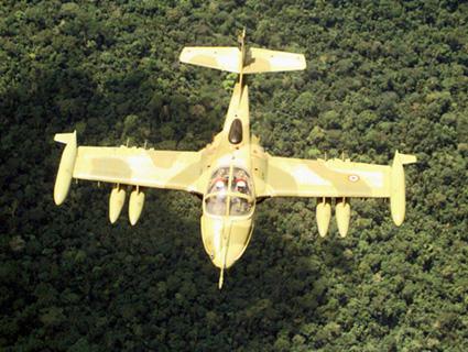 avion cazabombardero ligero Cessna A-37B Dragonfly subsónico