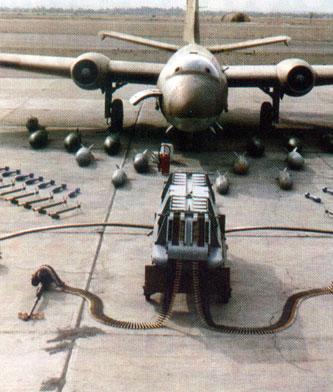 Frontal de Canberra Mk.68 peruano. Bombas. Cohetes.