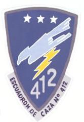 Escudo de combate del Escuadrón de Caza Nº 412 del Grupo Aéreo Nº 4 de la FAP