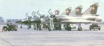 Aviones Mirage 2000P emplazados en la Base de La Joya