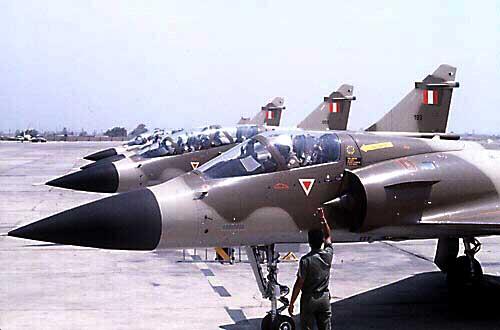 avión cazabombardero interceptor Mirage 2000P
