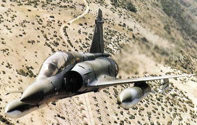 avión cazabombardero interceptor Mirage 2000DP