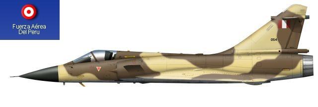 Mirage 2000P peruano con su esquema táctico en arena y marrón terroso.