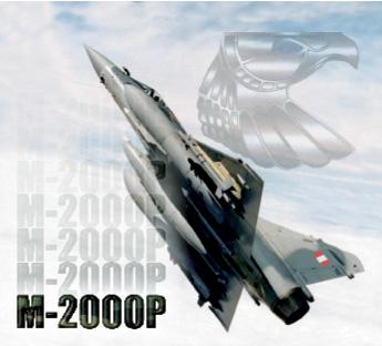 Alegoría del poder aéreo peruano representado en el Mirage 2000P el bravío halcón peruano de acero