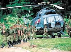HELICOPTERO DE TRANSPORTE MIL MI-17 DE LA AVIACION DEL EJERCITO DEL PERU