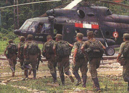 Helicóptero tipo Mil Mi-17 de la Aviación del Ejército de Perú