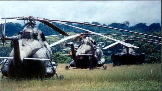 Helic�pteros tipo Mil Mi-17 de la Aviaci�n del Ej�rcito de Per�