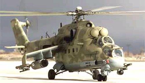 Helic�ptero ruso de ataque tipo Mi-24 Hind D