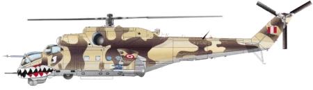 Helic�ptero tipo Mil Mi-25 Hind D de la Fuerza A�rea del Per�.