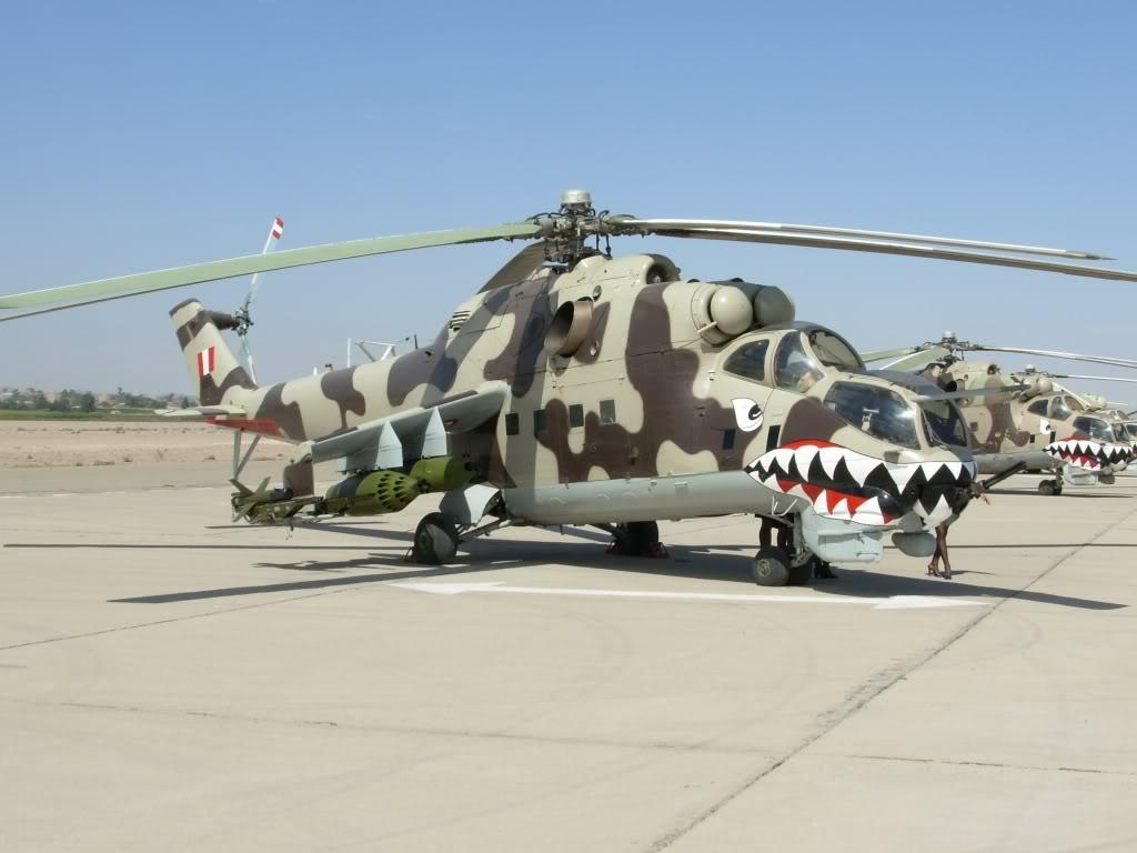 Helicóptero peruano de ataque Mi-25 Hind D
