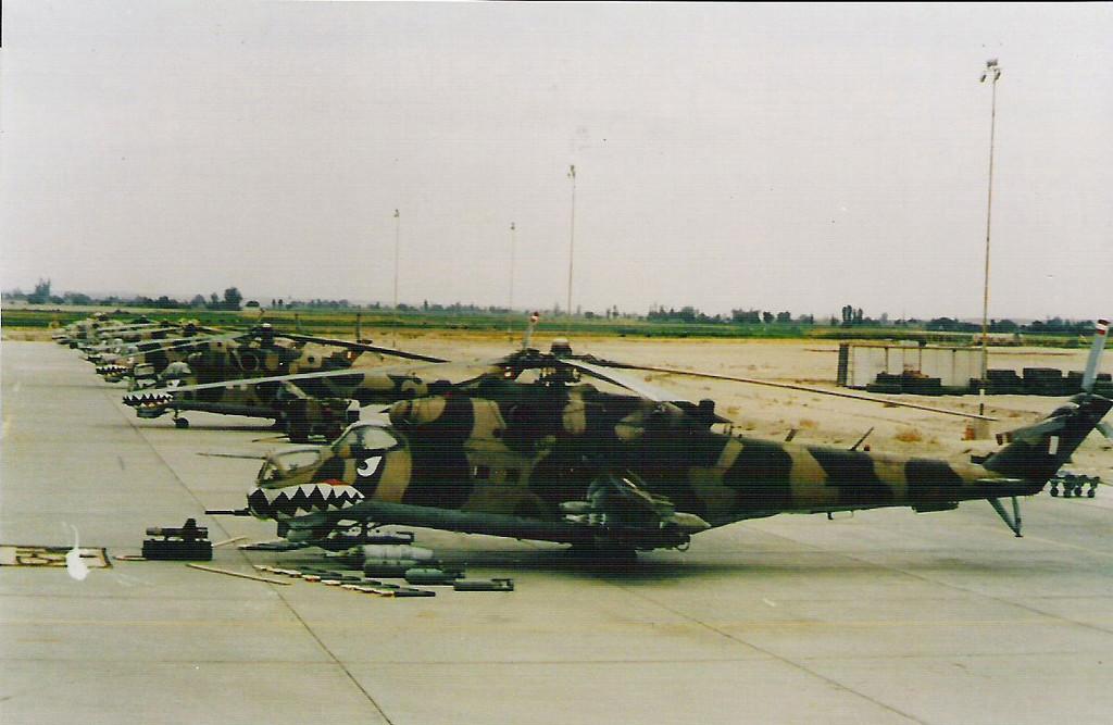 Helicópteros peruanos de ataque Mi-25 Hind D