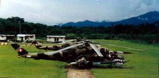 Helicópteros de ataque Mi-25 de la Fuerza Aérea de Perú, la caballería aérea en el Conflicto del Alto Cenepa