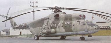 Helic�ptero tipo Mil Mi-6 Hook de la Fuerza A�rea del Per�