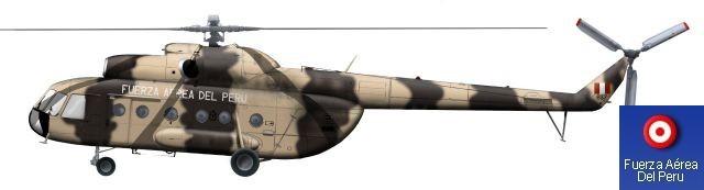 Helic�ptero tipo Mil Mi-8T Hip de la Fuerza A�rea del Per�