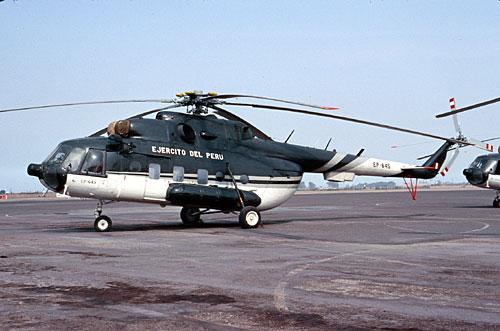 Helicóptero tipo Mil Mi-8T Hip de la Aviación del Ejército del Perú