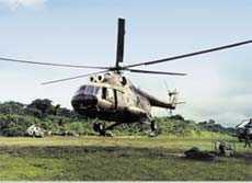 Helic�ptero peruano de transporte Mi-8T