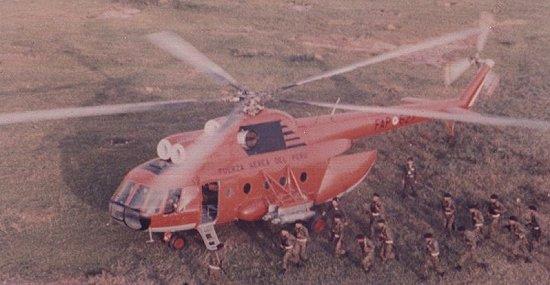 Mi-8T de la Fuerza Aérea del Perú.