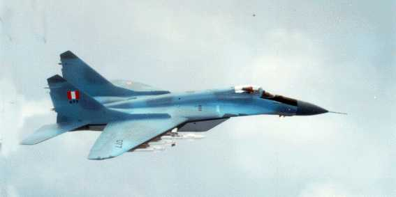 AVION CAZABOMBARDERO SUPERSONICO MIG-29 DE LA F.A.P.