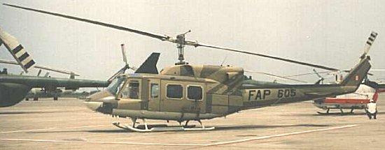 Fuerza Aérea del Perú: Helicóptero de asalto y transporte Twin Bell 212 del Grupo Aéreo Nº 3