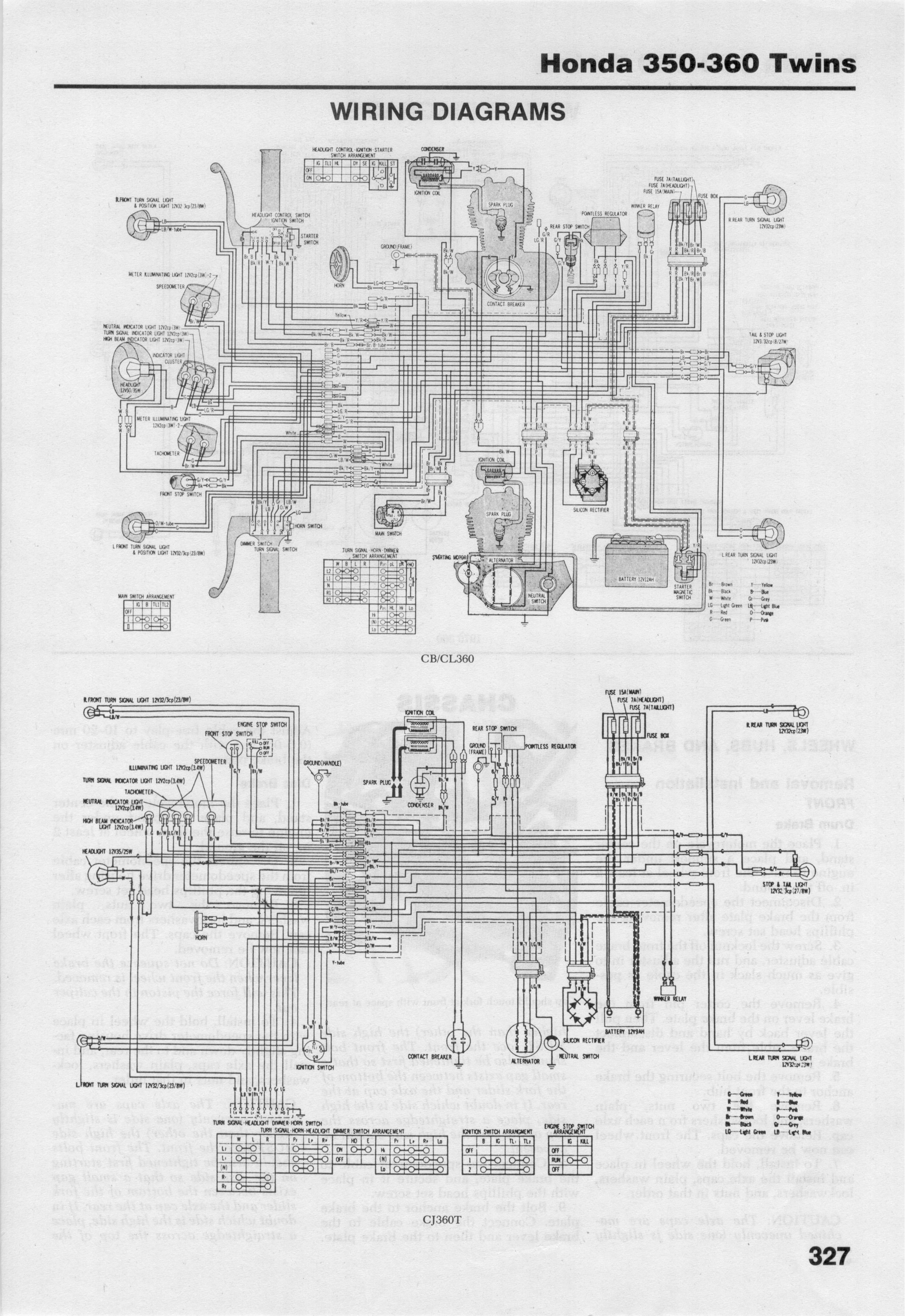Page_327 honda cb cl 350 microfiche honda cl360 wiring diagram at mr168.co