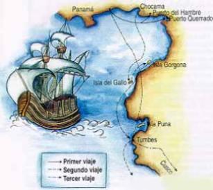 [Pizarros 1.- 3. Reise]