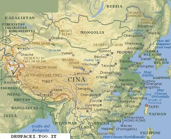 Cina Cartina Fisica Geografica.Vietnam Carta Stradale