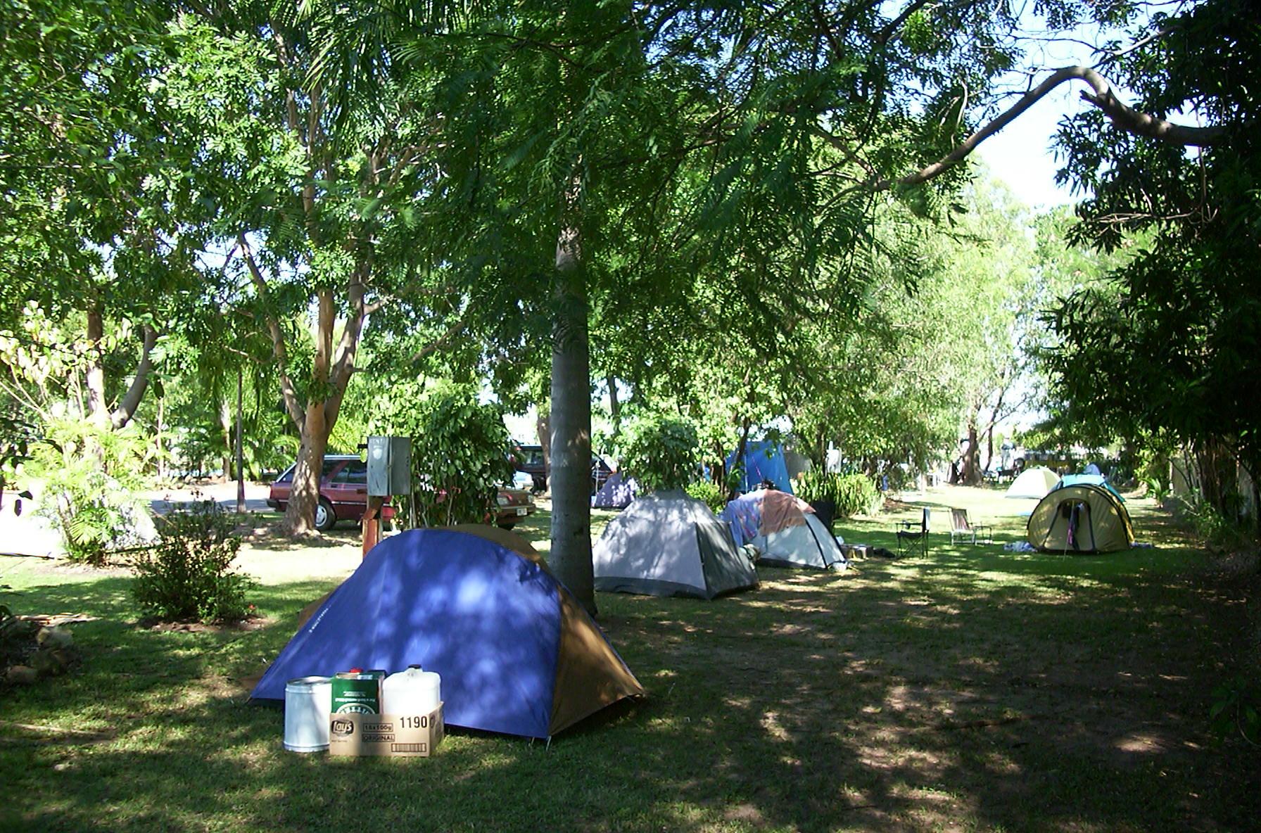55 powered Caravan sites. Large shady camping area. Salt water pool ...