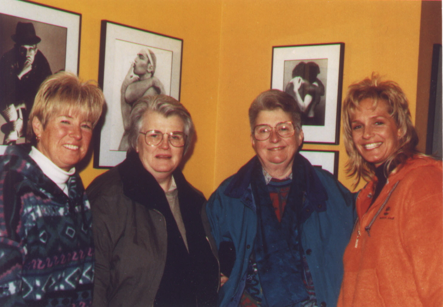 From L To R Marianne Donna Mcbride And Barbara Grier Of border=