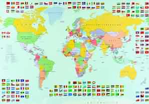 Map of ireland eire world flags wall maps flags of the world map political wall maps of europe for sale on line gumiabroncs Choice Image