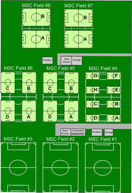 Mansfield sports complex field map