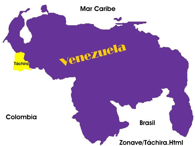 Posición Geográfica del Estado Táchira