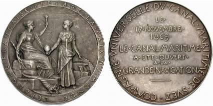 [Medaille auf die Eröffnung des Suezkanals 1869]