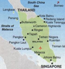 [Die Halbinsel Malakka mit den 'Straits Settlements': Penang, Pangkor, Malakka und Singapur]