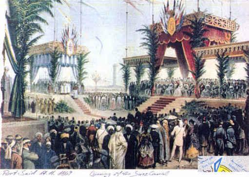 [Eröffnungsfeier des Suezkanals 1869 in Port Said]