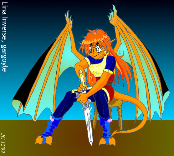 Lina Garg's Double Dragon Slave! -a Slayers site